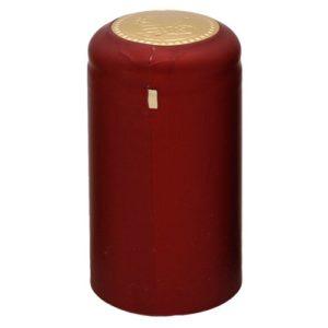 Термоусадочный колпачок на бутылку бордовый
